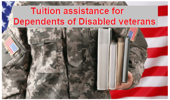 Tuition assistance for dependents of disabled veterans